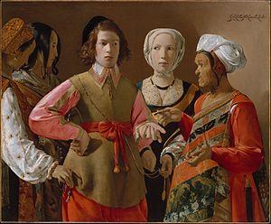 """""""La diseuse de bonne aventure""""Georges de la Tour, 1630"""