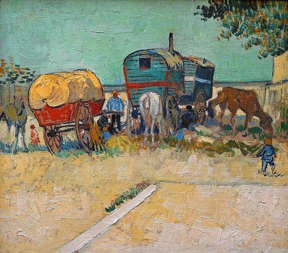 """""""Les roulottes""""Vincent Van Gogh, 1888"""