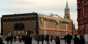 La malle Vuitton sur la Place Rouge