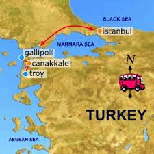 Le détroit des Dardanelles et la péninsule de Gallipoli