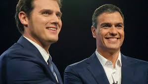 Albert Rivera (Ciudadanos) Pedro Sanchez (PS)