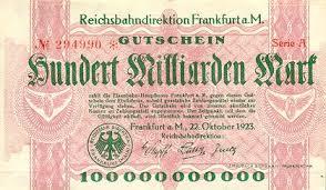 Billet de 100 millions de Marck 1923 pour acheter un timbre poste !