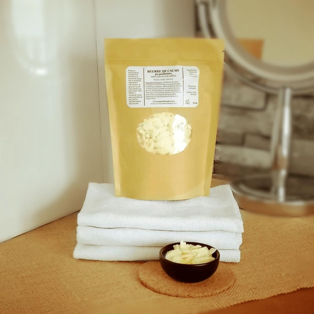 beurre de cacao brut en paillette