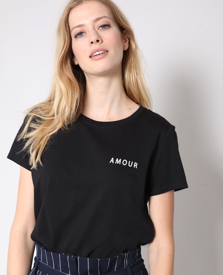 t -shirt inscription AMOUR pimkie