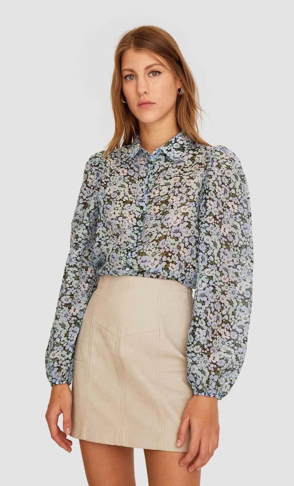 blouse fleurie