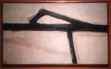 Franz Kline, Sans titre, 1955, huile sur toile.