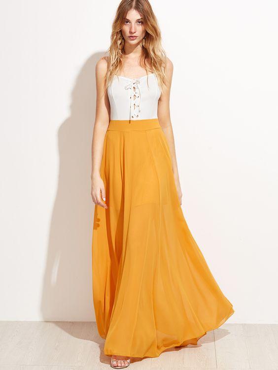robe-longue-jaune-blanc