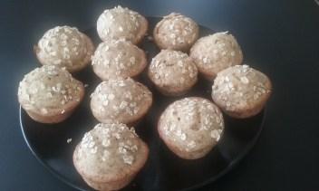 Muffins noisettes-pommes-avoine
