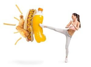 fast food vs health life/ vie saine et alimentation