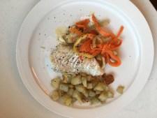 Cabillaud et légumes au four