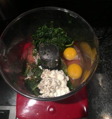 recette saine et lowcarb de flan au épinards