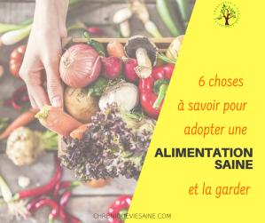 Alimentation saine : 6 choses essentielles à appliquer