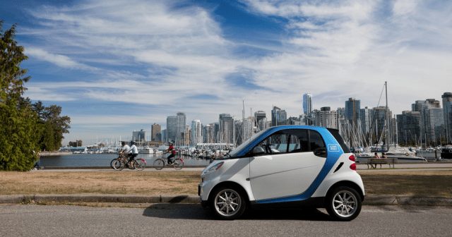 A Car2Go in Vancouver's Stanley Park