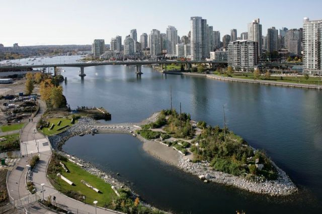 Habitat Island in Vancouver's Southeast False Creek
