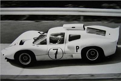 Joakim Bonnier driving a Chaparral 3 1966