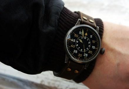 Lacer Paderborn Erbstück Beobachtungsuhr Fliegeruhr B-Uhr B-Muster WWII Vintage Wrist