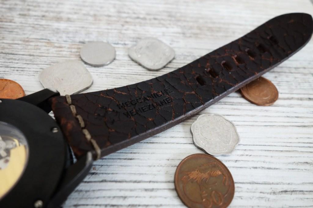 Meccaniche Veneziane Arsenale Handmade in Italy Vintage Leather Strap Lederband 2
