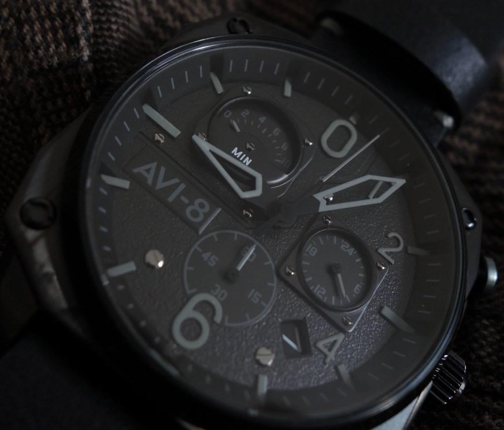 Cockpit Watch AVI-8 Hawker Hunter Black Chronograph Schwarz