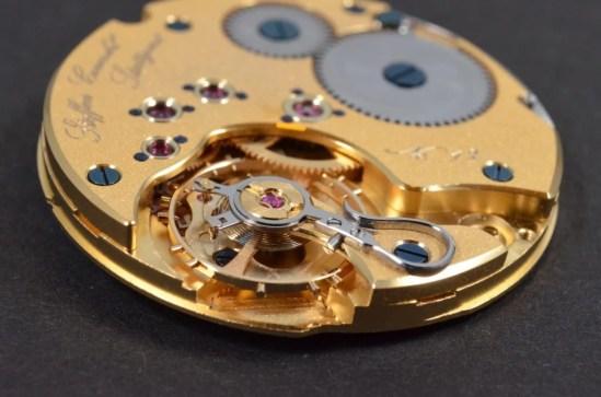 Regulator Werk Handaufzug gold