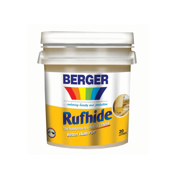 Berger Paints Rufhide Emulsion: Wall putty with great adhensive strength and better than POP.