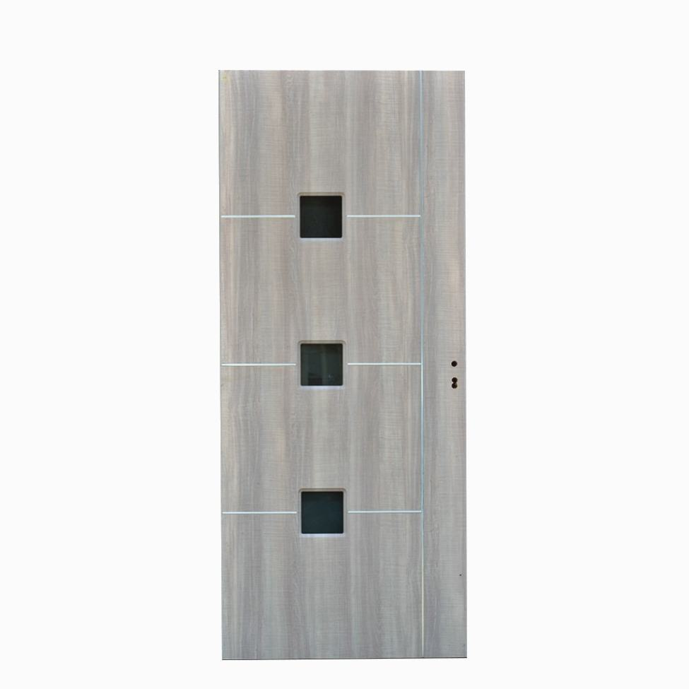 Hardwood Glass Door with rust-free stainless steel