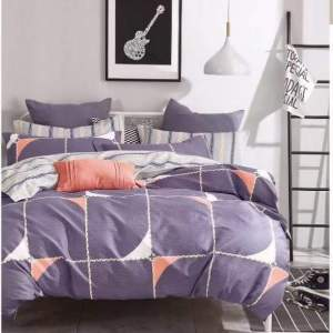 Purple Twitch cotton beddings
