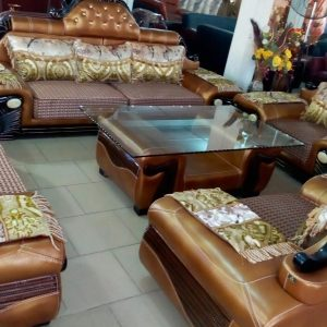 Brown 7 Seaters Luxuriate Leather Chair