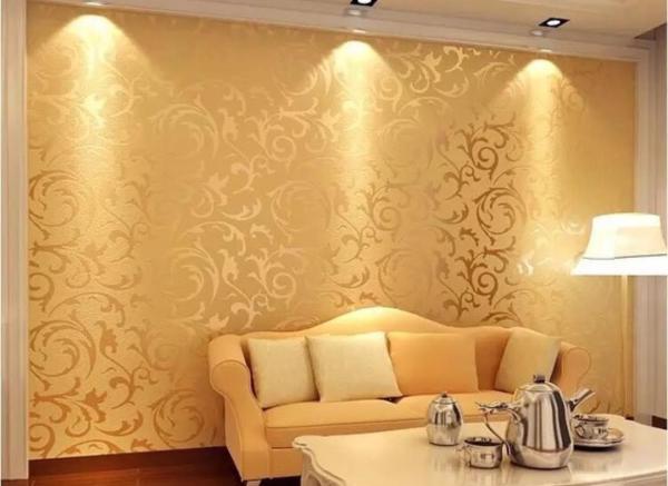 Gold Patterned Wallpaper