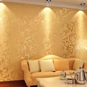 Gold Patterned Wallpaper