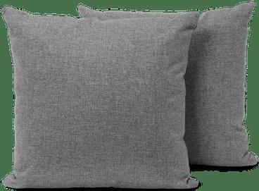 Decorative knife edge throw pillow