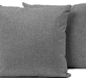 Decorative knife edge throw pillow