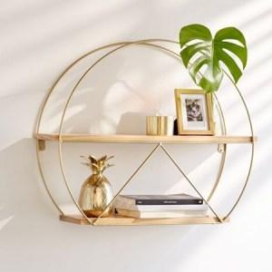 Round circle hanging shelf wall decor