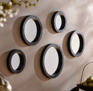 Wall mirrors, black framed wall mirrors, living room mirrors, oval wall mirror, large round mirror, mirrors