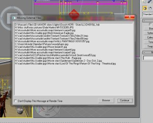 "3ds max ""Missing external file window"""