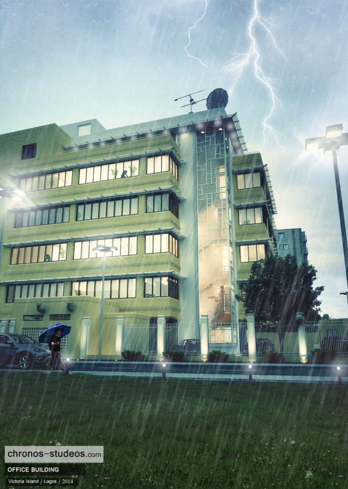 Chronos Studeos Making the 3D rendering of Rainy Day in Lagos (9)