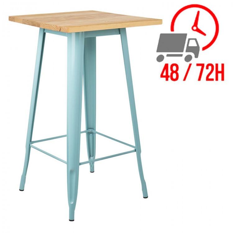 table rectangulaire 120x60cm acier inox et alu