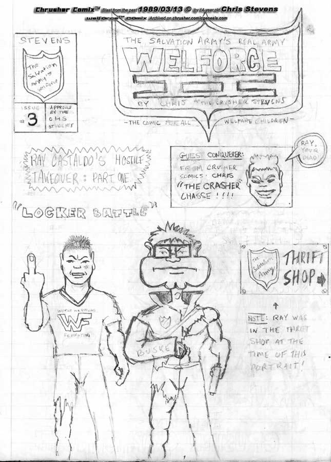 RaYzor's Hostile Takeover – Welforce #2 (Original Art)   Crusher Comics (1988-89)