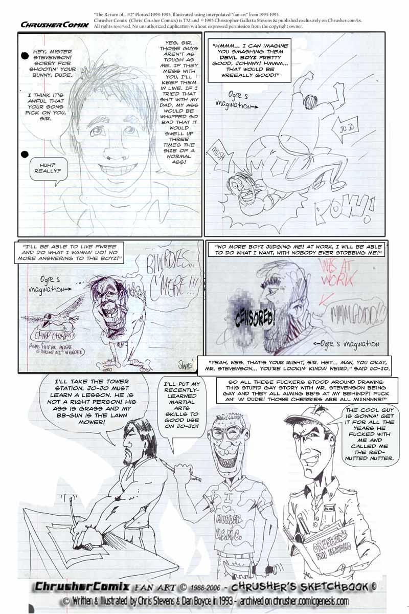"JoJo Awakens Ogre's Inhibitions with his plan of Devil Boy destruction!   ""Crusher, The Return of…"" #2"