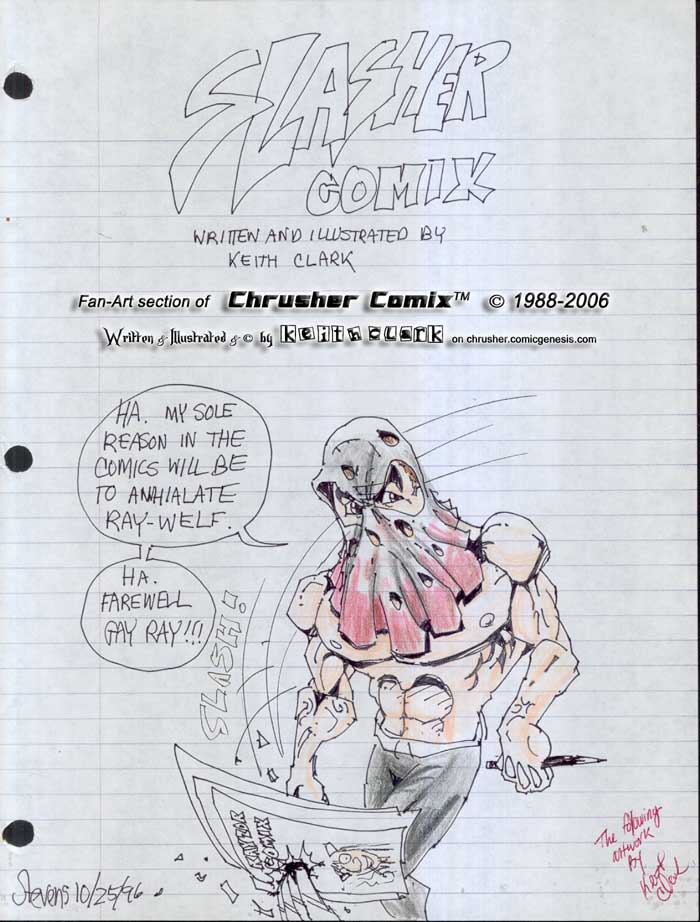 "ADDENDUM – CANON FAN ART: Keith Clark's ""Slasher Comics"" (1996)"