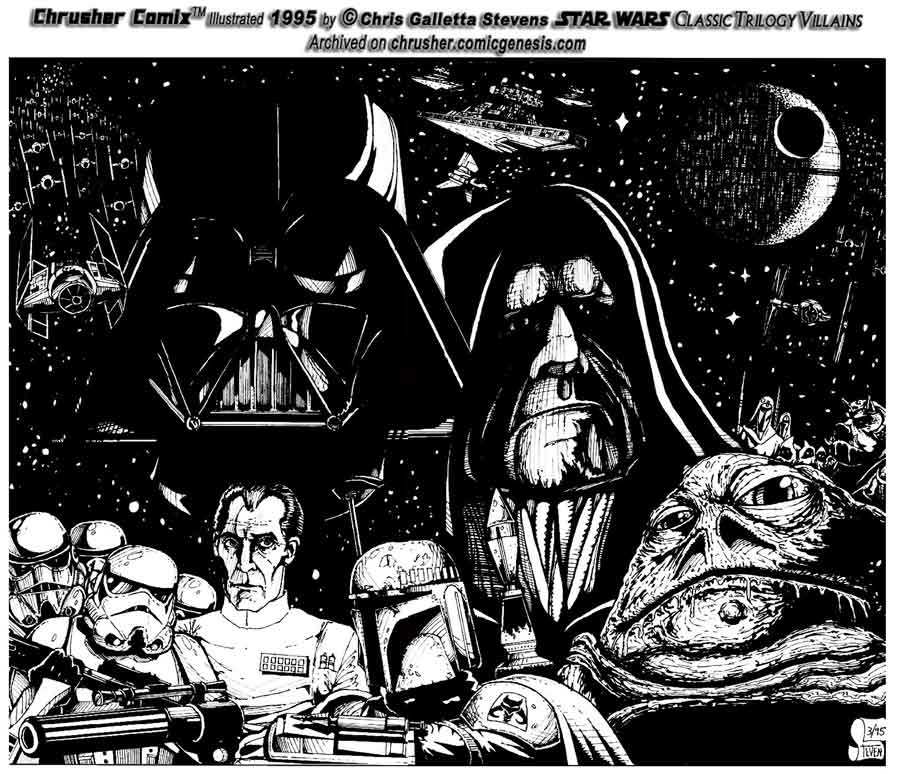 Star Wars: The Empire And Original Trilogy Villains | ChrusherComix (1993)