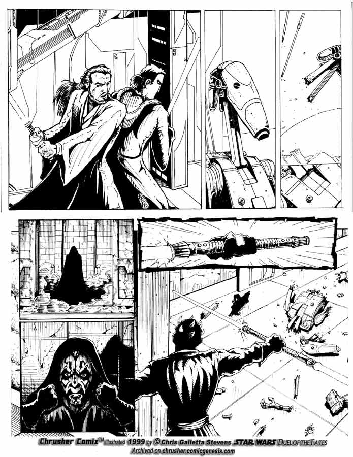 Star Wars: Lightsaber Duel w/ Darth Maul| Chrusher Comix (Page 1)