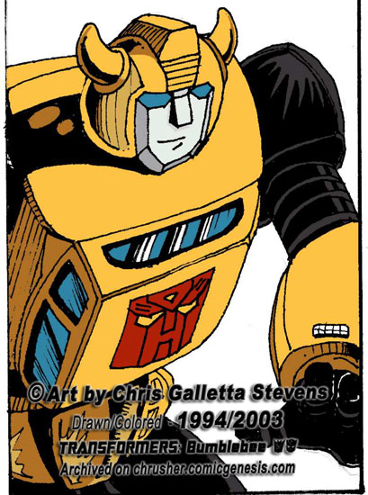 Transformers: G1 Cartoon Bumblebee | Chrusher Com ix