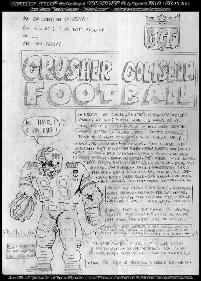 Chrusher Coliseum Football League