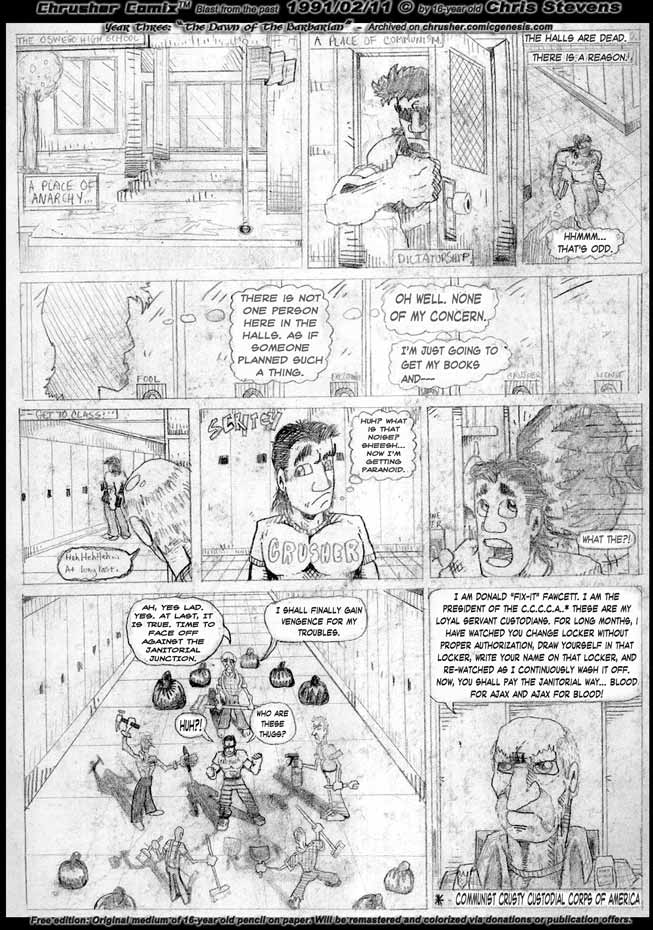 In The Still Hallways The Custodians Seek Revenge For Their Fallen Comrade| The Bezerker Barbarian Howeird (1991)