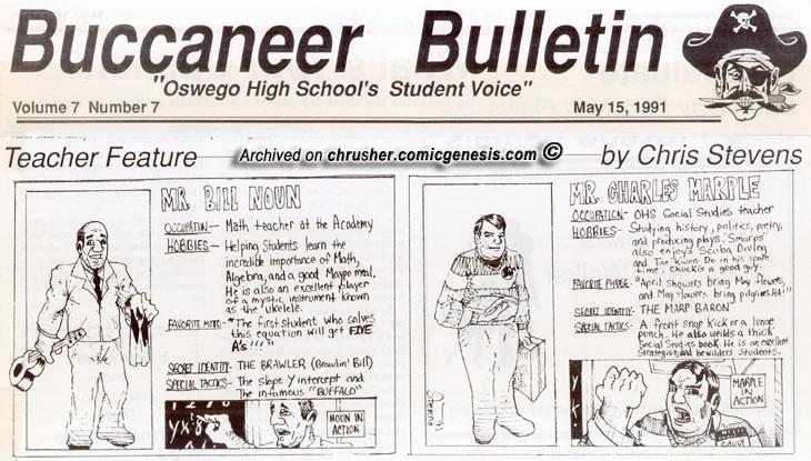Buccaneer Bulletin Series Teacher Features