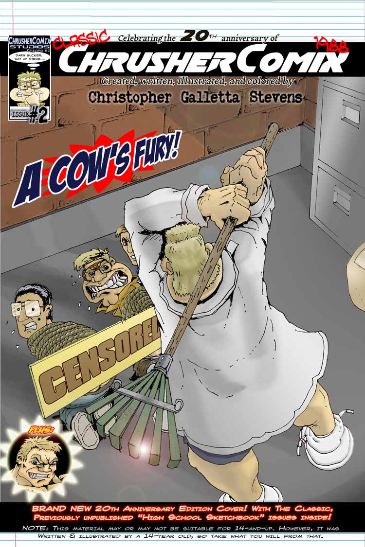 Teenage Mutant Raking Cow (Alternate Cover) | Crusher Comics #2 (1988)