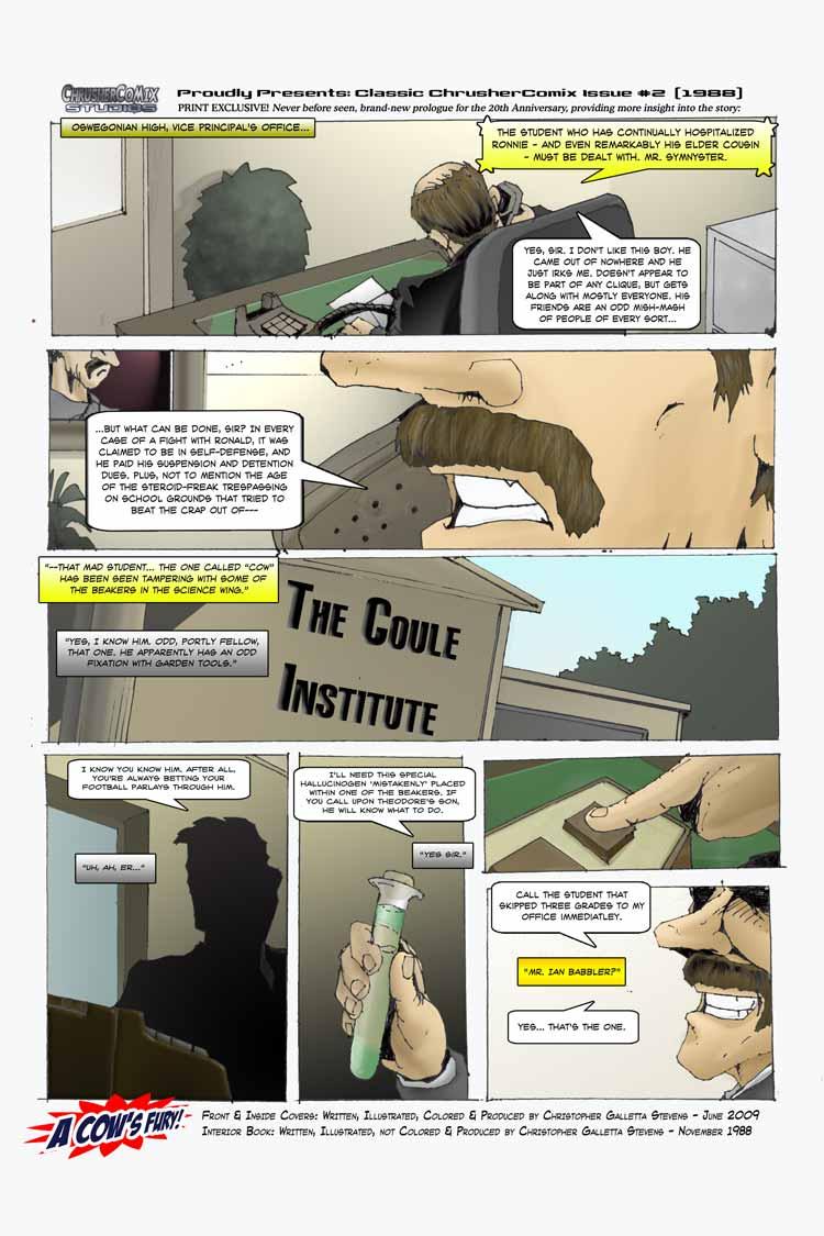 The Coule Institute   20th Anniversary Retcon Bonus Page (1988-2008)