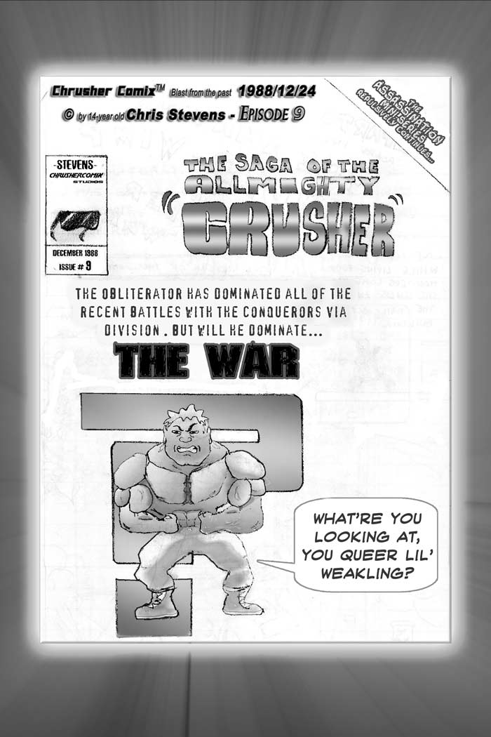 """""""What're You Looking At, You Queer Lil' Weakling!?""""   Crusher Comic Classics #3 (1988)"""