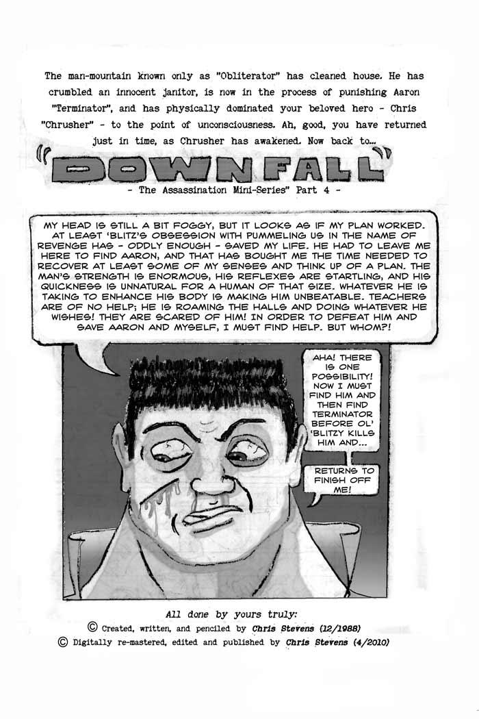 Downfall | Classic Crusher Comics #3 (1988)