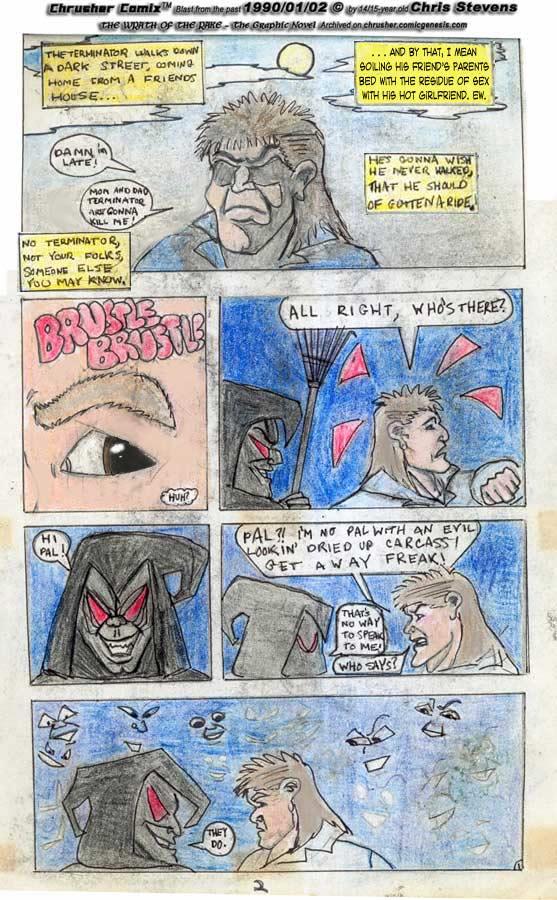 Aaron Walks Home after doing his girlfriend   Wrath of the Rake (1989-90)